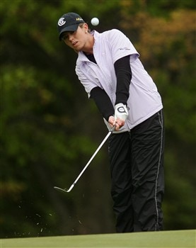 CORNING, NY - MAY 22:   Erica Blasberg chips onto the 14th green during the first round of the LPGA Corning Classic at Corning Country Club on May 22, 2008 in Corning, NY.  (Photo by Kyle Auclair/Getty Images)