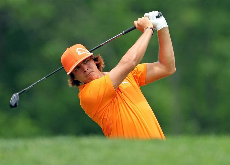 DUBLIN, OH - JUNE 06:  Rickie Fowler hits his tee shot on the third hole during the final round of The Memorial Tournament presented by Morgan Stanley at Muirfield Village Golf Club on June 6, 2010 in Dublin, Ohio.  (Photo by Andy Lyons/Getty Images)