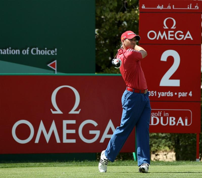 DUBAI, UNITED ARAB EMIRATES - FEBRUARY 13:  Sergio Garcia of Spain during the final round of the Omega Dubai Desert Classic on the Majlis course at the Emirates Golf Club on February 13, 2011 in Dubai, United Arab Emirates.  (Photo by Ross Kinnaird/Getty Images)