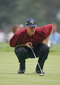 Brett Wetterich during the second round of the 88th PGA Championship at Medinah Country Club in Medinah, Illinois, on August 18, 2006.Photo by Sam Greenwood/WireImage.com