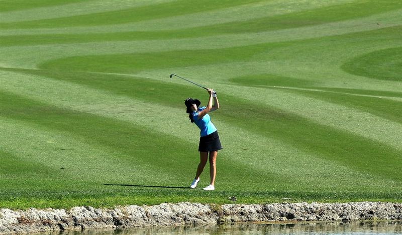 RANCHO MIRAGE, CA - APRIL 01:  Sandra Gal of Germany on the 6th hole during the first round of the 2010 Kraft Nabisco Championship, on the Dinah Shore Course at The Mission Hills Country Club, on April 1, 2010 in Rancho Mirage, California.  (Photo by David Cannon/Getty Images)