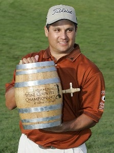 Omar Uresti was awarded the winner's keg filled with Wente wine after final round of the Livermore Valley Wine Country Championship held at The Course at Wente Vineyards in Livermore, California, on April 1, 2007. Photo by: Stan Badz/PGA TOURPhoto by: Stan Badz/PGA TOUR