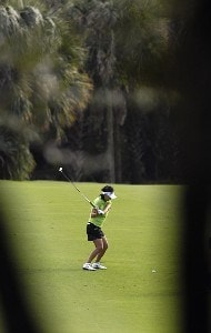 Mi Hyun Kim during the second round of the ADT Championship at the Trump International Golf Club in West Palm Beach, Florida on Friday, November 17, 2006. LPGA - 2006 ADT Championship - Second Round