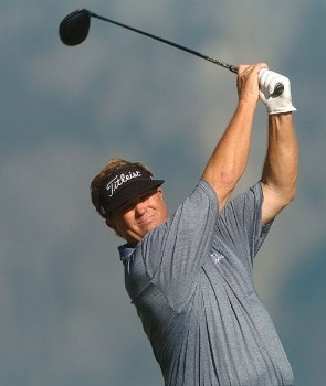 Peter Jacobsen in action during the second round of the 2005 Boeing Greater Seattle Classic at TPC at Snoqualmie Ridge in Snoqualmie, Washington August 20, 2005.Photo by Steve Grayson/WireImage.com