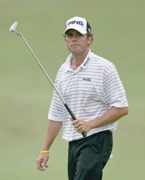 Chris Tidland in action during the second round of the 2005 National Mining Association's Pete Dye Classic at Pete Dye Golf Club in Bridgeport, West Virginia on Friday, July 8, 2005.Photo by Hunter Martin/WireImage.com