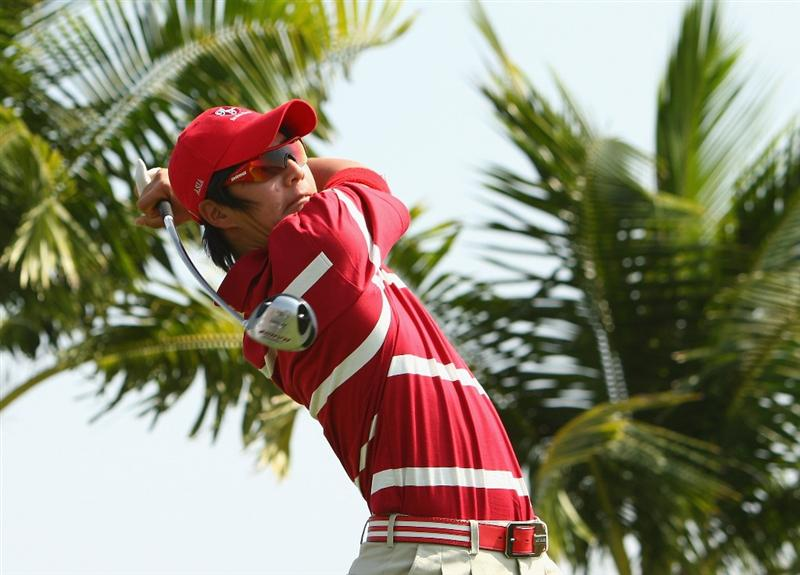 BANGKOK, THAILAND - JANUARY 09:  Ryo Lshikawa of Japan in action during the foursomes on Day one of The Royal Trophy at the Amata Spring Country Club on January 9, 2009 in Bangkok, Thailand.  (Photo by Ian Walton/Getty Images)