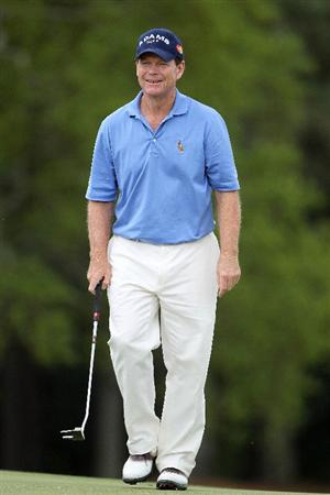 AUGUSTA, GA - APRIL 08:  Tom Watson smiles as he walks to the 18th green during the first round of the 2010 Masters Tournament at Augusta National Golf Club on April 8, 2010 in Augusta, Georgia.  (Photo by Jamie Squire/Getty Images)