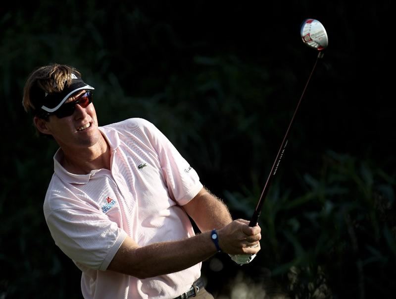 SEVILLE, SPAIN - APRIL 30:  Carl Suneson of Spain during the second round of the Open de Espana at the Real Club de Golf de Seville on April 30, 2010 in Seville, Spain.  (Photo by Ross Kinnaird/Getty Images)