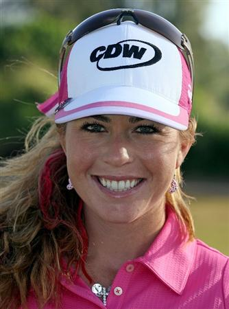 KAHUKU, HI - FEBRUARY 14:  Paula Creamer is pictured before the final round of the SBS Open on February 14, 2009 at the Turtle Bay Resort in Kahuku, Hawaii.  (Photo by Andy Lyons/Getty Images)