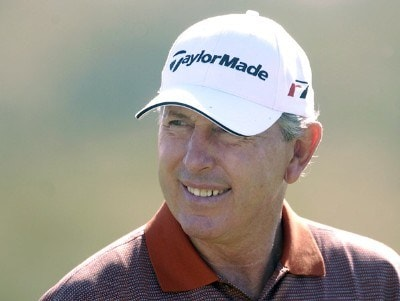 Hale Irwin during the final round of the Champions Tour ACE Group Classic at The Club at TwinEagles on Sunday, February 19, 2006, in Naples, Florida.Photo by Grant Halverson/WireImage.com