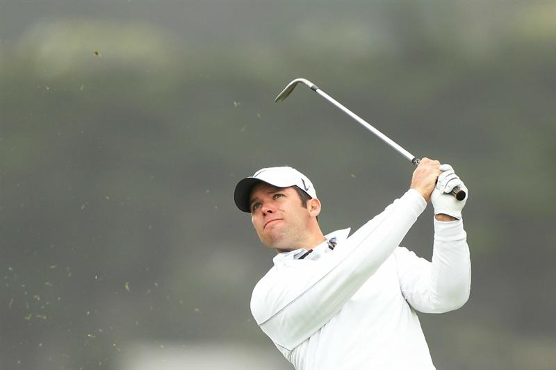 PEBBLE BEACH, CA - JUNE 18:  Paul Casey of England watches his tee shot on the seventh hole during the second round of the 110th U.S. Open at Pebble Beach Golf Links on June 18, 2010 in Pebble Beach, California.  (Photo by Ross Kinnaird/Getty Images)
