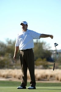 Bart Bryant misses a eagle putt on the 17th green during the final round of the FBR Open held at the TPC Scottsdale, February 4, 2007 in Scottsdale, Arizona. PGA TOUR - 2007 FBR Open - Final RoundPhoto by Marc Feldman/WireImage.com