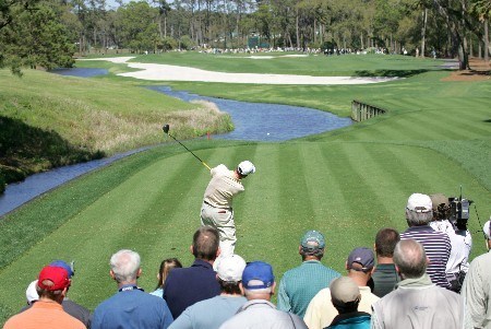 Joe Durant during the final round of THE PLAYERS Championship at the Tournament Players Club at Sawgrass in Ponte Vedra Beach, Florida on March 28, 2005.