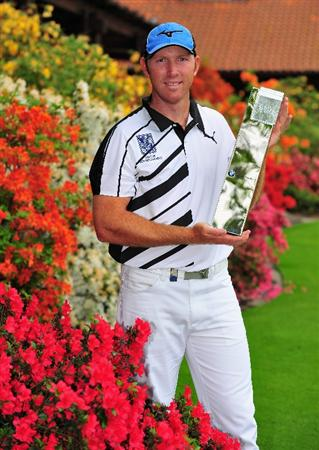 TURIN, ITALY - MAY 10:  Daniel Vancsik of Argentina holds the trophy after winning the BMW Italian Open at Royal Park I Roveri on May 10, 2009 near Turin, Italy.  (Photo by Stuart Franklin/Getty Images)
