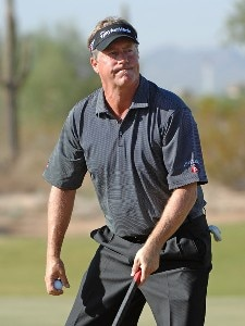 Michael Allen birdies the 9th hole during the second round of the Fry's Electronics Open on October 19, 2007 at Grayhawk Golf Club in Scottsdale, Arizona PGA TOUR - 2007 Frys Electronics Open - Second RoundPhoto by Marc Feldman/WireImage.com