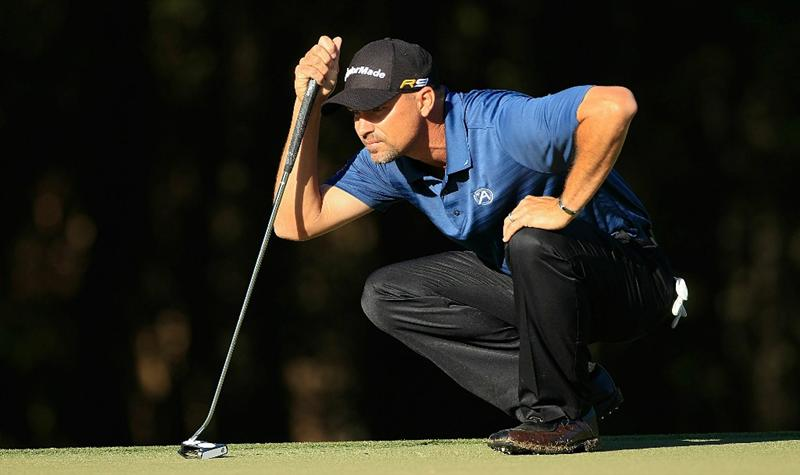 MADISON, MS - OCTOBER 01:  Cliff Kresge lines up a putt during the second round of the Viking Classic held at Annandale Golf Club on October 1, 2010 in Madison, Mississippi.  (Photo by Michael Cohen/Getty Images)