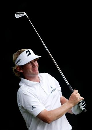 GREENSBORO, NC - AUGUST 20:  Brandt Snedeker watches a shot from the fairway on the 9th hole during the first round of the Wyndham Championship at Sedgefield Country Club on August 20, 2009 in Greensboro, North Carolina  (Photo by Streeter Lecka/Getty Images)