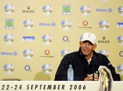 USA's Tom Lehman during his press conference for the 2006 Ryder Cup at the K Club in Straffan, Ireland on September 19, 2006.