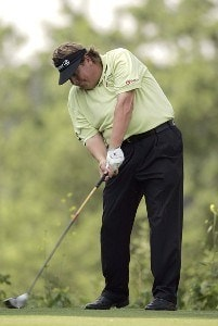 Tim Herron during the first round of the Cialis Western Open on the No. 4 Dubsdread course at Cog Hill Golf and Country Club in Lemont, Illinois on July 6, 2006.Photo by Michael Cohen/WireImage.com