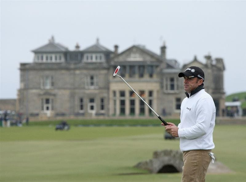 ST.ANDREWS, SCOTLAND - OCTOBER 02:  Paul McGinley of Ireland in action on the 17th green during the second round of The Alfred Dunhill Links Championship at The Old Course on October 2, 2009 in St. Andrews, Scotland.  (Photo by David Cannon/Getty Images
