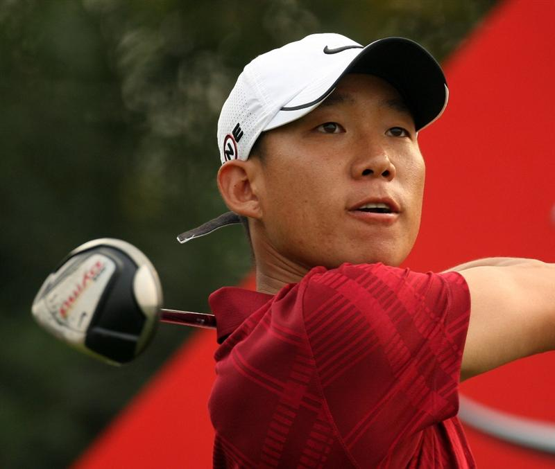 SHANGHAI, CHINA - NOVEMBER 08:  Anthony Kim of the USA on the during the final round of the WGC - HSBC Champions at Sheshan International Golf Club on November 8, 2009 in Shanghai, China.  (Photo by Ross Kinnaird/Getty Images)