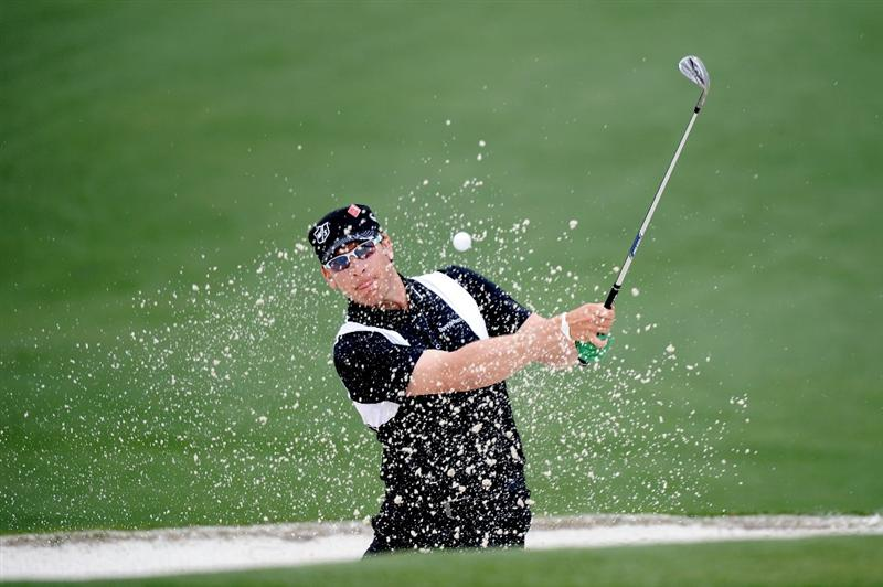 AUGUSTA, GA - APRIL 08:  Ricky Barnes plays a bunker shot on the second hole during the second round of the 2011 Masters Tournament at Augusta National Golf Club on April 8, 2011 in Augusta, Georgia.  (Photo by Harry How/Getty Images)