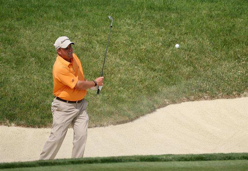 DUBLIN, OH - JUNE 06:  Matt Bettencourt hits his third shot on the 14th hole during the third round of the Memorial Tournament on June 6, 2009 at the Muirfield Village Golf Club in Dublin, Ohio.  (Photo by Andy Lyons/Getty Images)