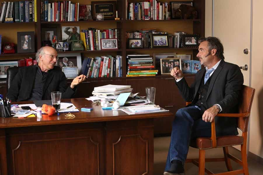 Feherty in Larry David's office
