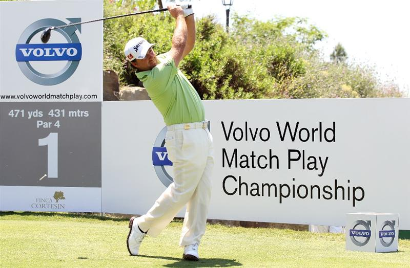 CASARES, SPAIN - MAY 21:  Graeme McDowell of Northern Ireland during his quarter final match of the Volvo World Match Play Championships at Finca Cortesin on May 20, 2011 in Casares, Spain.  (Photo by Ross Kinnaird/Getty Images)