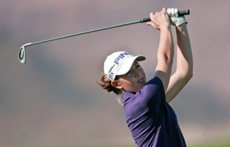 Stephanie Louden in action during Monday's Pro-Am festivities at Wendy's 3 Tour Challenge at South Shore Golf Course at Lake Las Vegas in Henderson, Nevada on Monday November 14, 2005.Photo by Hunter Martin/WireImage.com