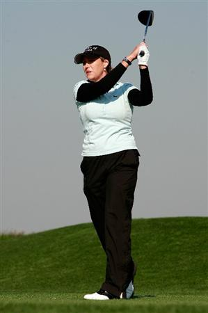 INCHEON, SOUTH KOREA - OCTOBER 29:  Cristie Kerr of United States hits a tee shot on the 13th hole during the 2010 LPGA Hana Bank Championship at Sky 72 Golf Club on October 29, 2010 in Incheon, South Korea.  (Photo by Chung Sung-Jun/Getty Images)