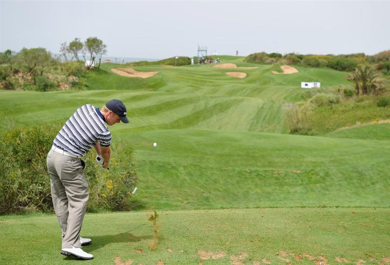 AGADIR, MOROCCO - APRIL 02:  David Horsey of England plays his tee shot on the second hole during the third round of the Trophee du Hassan II Golf at the Golf du Palais Royal on April 2, 2011 in Agadir, Morocco.  (Photo by Stuart Franklin/Getty Images)