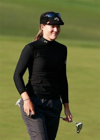 INCHEON, SOUTH KOREA - OCTOBER 30:  Vicky Hurst of United States on the 18th hole during the 2010 LPGA Hana Bank Championship at Sky 72 Golf Club on October 30, 2010 in Incheon, South Korea.  (Photo by Chung Sung-Jun/Getty Images)