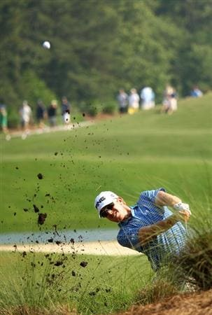 PONTE VEDRA BEACH, FL - MAY 06:  Hunter Mahan plays a shot from the rough on the 12th hole during the first round of THE PLAYERS Championship held at THE PLAYERS Stadium course at TPC Sawgrass on May 6, 2010 in Ponte Vedra Beach, Florida.  (Photo by Richard Heathcote/Getty Images)