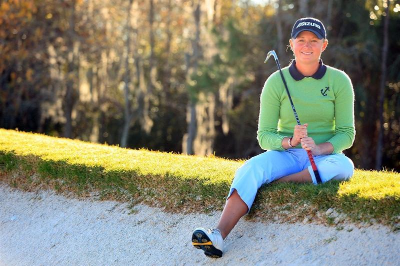 DAYTONA BEACH, FL - DECEMBER 07:  LPGA Qualifying School tournament winner Stacy Lewis poses for a portrait at LPGA International on December 7, 2008 in Daytona Beach, Florida.  (Photo by Scott Halleran/Getty Images)