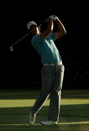 MELBOURNE, AUSTRALIA - NOVEMBER 11:  Aaron Baddeley of Australia plays an approach shot on the 2nd hole during the Pro-Am ahead of the 2009 Australian Masters at Kingston Heath Golf Club on November 11, 2009 in Melbourne, Australia.  (Photo by Quinn Rooney/Getty Images)