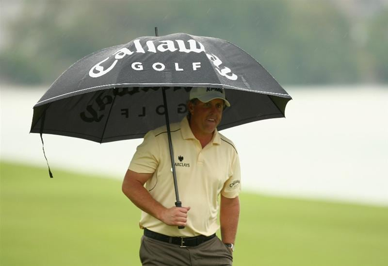 SINGAPORE - NOVEMBER 13:  Phil Mickelson of USA looks on during the first round of the Barclays Singapore Open at Sentosa Golf Club on November 13, 2008 in Singapore.  (Photo by Ian Walton/Getty Images)