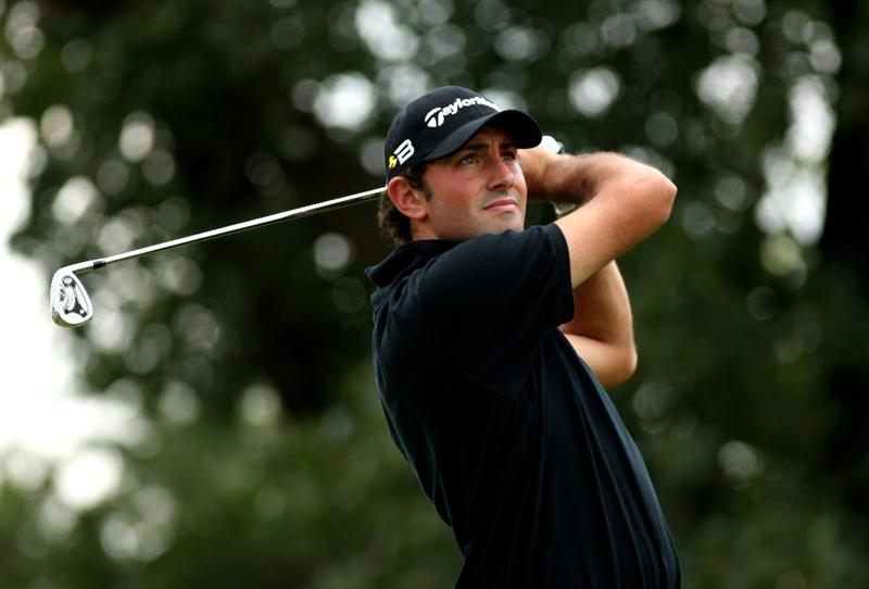 JOHANNESBURG, SOUTH AFRICA - JANUARY 08:  Alfredo Garcia-Heredia of Spain tee's off at the 16th during the first round of the Joburg Open at Royal Johannesburg and Kensington Golf Club on January 8, 2009 in Johannesburg, South Africa.  (Photo by Richard Heathcote/Getty Images)