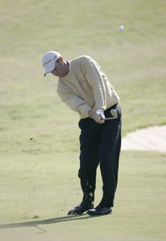 Jeff Gove during the second round of the Nationwide Tour Championship held  on the Senator course at Capitol Hill GC in Prattville, Alabama on Friday, October 28, 2005.Photo by Sam Greenwood/WireImage.com