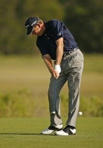Nick Price on the 3rd hole during the first round of the Senior PGA Championship held at Ocean Course at Kiawah Island Golf Resort in Kiawah Island, SC on May 24, 2007. 2007 Senior PGA Championship - First RoundPhoto by Mike Ehrmann/WireImage.com
