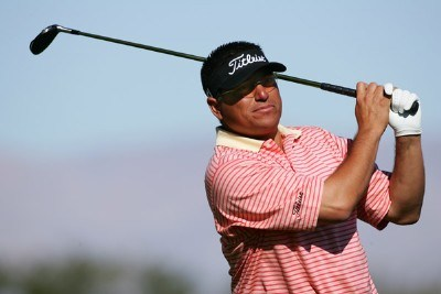 Robert Gamez makes a tee shot during the third round of the 49th Bob Hope Chrysler Classic on January 18, 2008 at the PGA WEST Arnold Palmer Private Course in La Quinta, California. PGA TOUR - 2008 Bob Hope Chrysler Classic - Round ThreePhoto by Robert Laberge/Getty Images