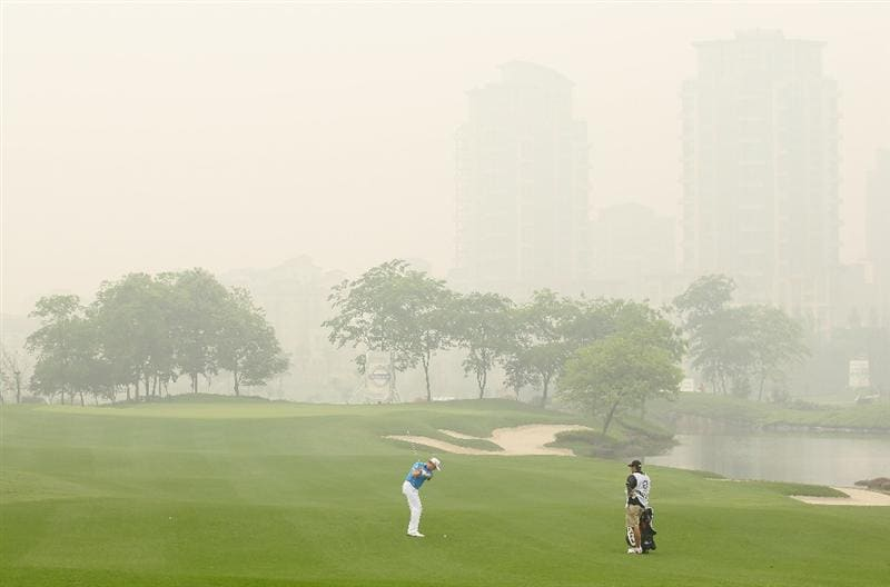 CHENGDU, CHINA - APRIL 21:  Jamie Domaldson of Wales in action during first round of the Volvo China Open at Luxehills Country Club on April 21, 2011 in Chengdu, China.  (Photo by Ian Walton/Getty Images)