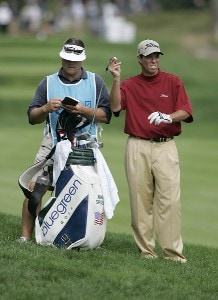 Mike Sposa during the first round of the 2006 Deutsche Bank Championship held at TPC Boston in Norton, Massachusetts on September 1, 2006.Photo by Michael Cohen/WireImage.com