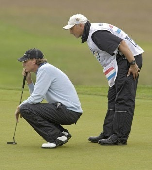 Maarten Lafeber of Holland during the third round of the 2005 Algarve World Cup at the Victoria Golf Club in Vilamoura, Portugal on November 19, 2005.Photo by Sandy Young/WireImage.com
