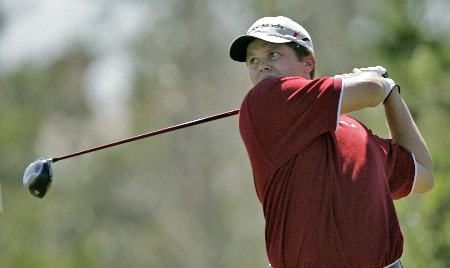 Robert Damron in action at the second hole during the third round of The Honda Classic, March 12,2005, held at The Country Club at Mirasol, Palm Beach Gardens, Fl.