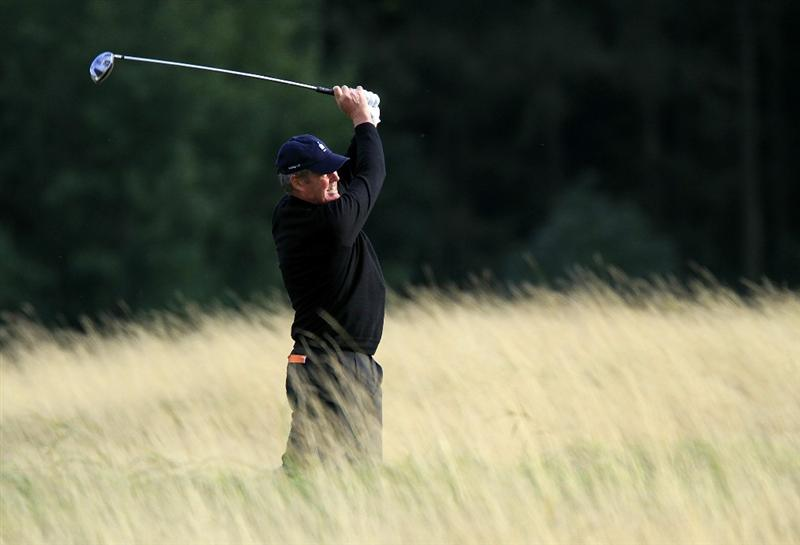 KUTNA HORA, CZECH REPUBLIC - SEPTEMBER 18:  Mike Clayton of Australia in action during the second round of the Casa Serena Open played at Casa Serena Golf on September 18, 2010 in Kutna Hora, Czech Republic.  (Photo by Phil Inglis/Getty Images)