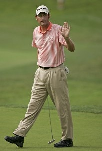 Jeff Gove during the fourth and final round of the Booz Allen Classic at TPC Avenel in Potomac, Maryland, on June 25, 2006.Photo by Hunter Martin/WireImage.com