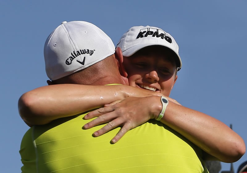 Stacy Lewis and father Dale