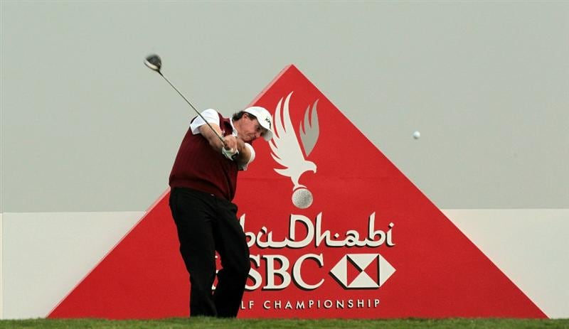 ABU DHABI, UNITED ARAB EMIRATES - JANUARY 19:  Phil Mickelson of the USA on the tee at the 3rd hole during the pro-am as a preview for the 2011 Abu Dhabi HSBC Golf Championship to be held at the Abu Dhabi Golf Club on January 19, 2011 in Abu Dhabi, United Arab Emirates.  (Photo by David Cannon/Getty Images)