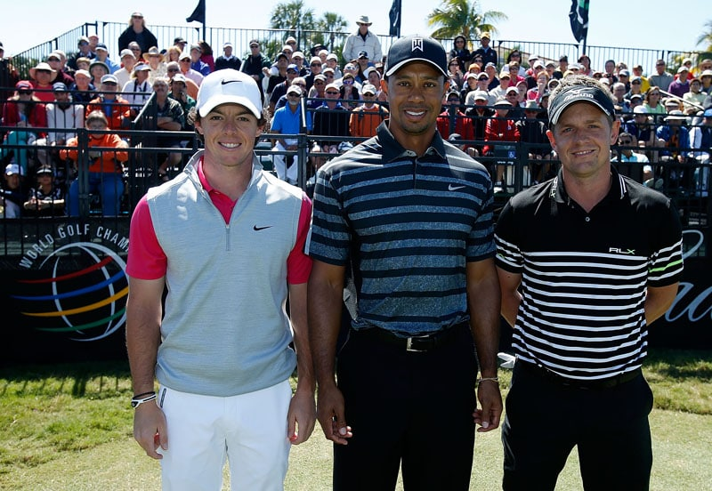 Rory McIlroy, Tiger Woods and Luke Donald